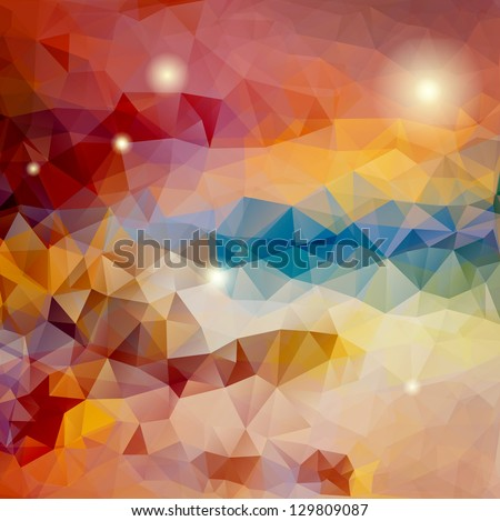 Abstract triangle multicolored background, vector illustration eps10 - stock vector