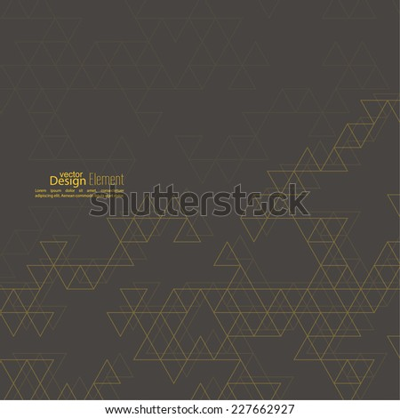 Abstract triangle pattern. Polygonal mosaic  background. Hipster cover, yellow, brown. For packaging, fabric, websites, printing, booklet, flyer, banner, mobile app, annual report template - stock vector