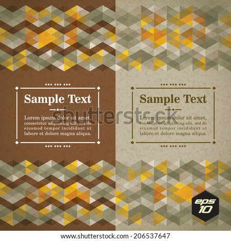 Abstract triangle pattern. Vector background. Geometric texture. Eps 10. - stock vector