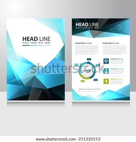 Abstract Triangle Polygon Business Brochure Flyer design vector template - stock vector