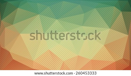 Abstract triangle (polygonal) background in vector, eps - stock vector