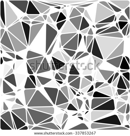 Abstract Triangle Polygonal Geometrical B&W Background, Vector Illustration EPS10. Geometric design frame for business presentations, flyers, banners, brochures leaflets, web. Black White tile pattern - stock vector