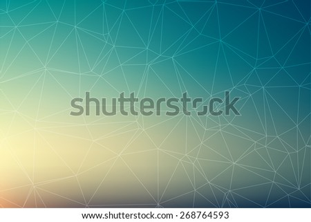 Abstract triangle polygonal vector geometric background - stock vector