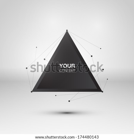 Abstract triangle text box design vector - stock vector