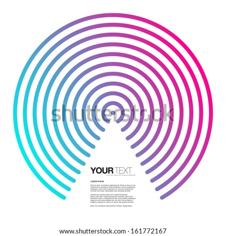 Abstract triangle text box design with colorful circles Eps 10 vector illustration - stock vector