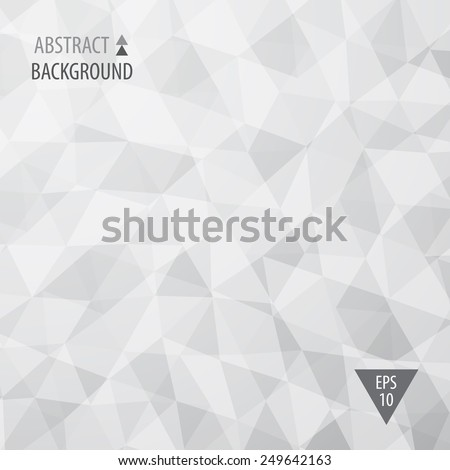 Abstract triangular low poly style vector background - stock vector
