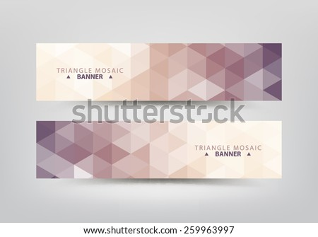 Abstract triangular pattern banners collection. - stock vector