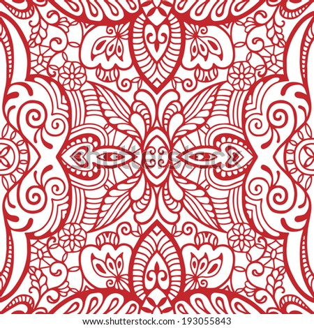 Abstract tribal ethnic seamless background, ornamental lace pattern ...