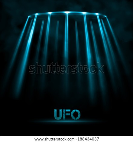 Abstract UFO background, eps 10 - stock vector