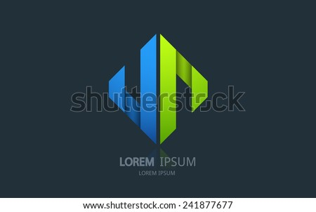 Abstract universal logo. Vector logotype design. - stock vector
