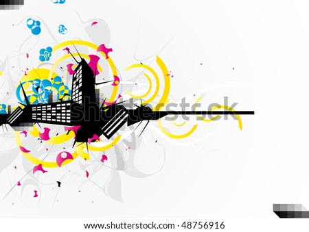 Abstract urban background - stock vector