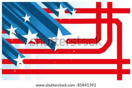Abstract USA background - stock vector