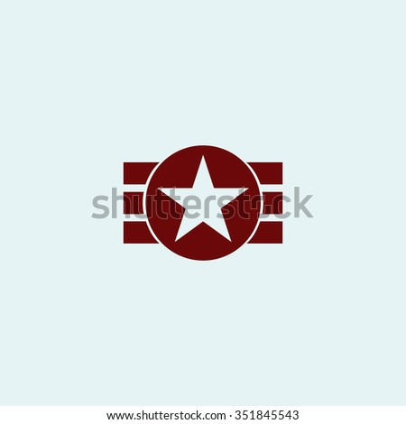 Abstract USA Flag Design. Red vector icon. Simple modern illustration pictogram. Collection concept symbol for infographic project and logo - stock vector