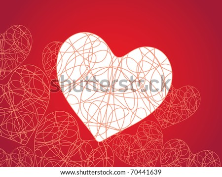 abstract valentine day background, vector illustration - stock vector
