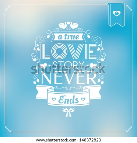 Abstract Valentine's day card vector illustration - stock vector