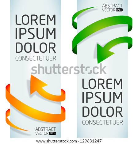 Abstract vector arrows - stock vector