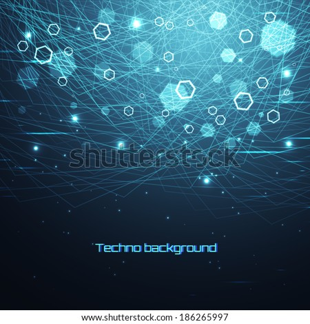 Abstract vector background. Connections. - stock vector