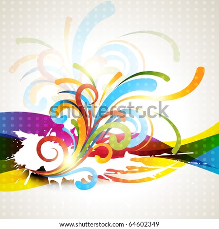 abstract vector background design illustration - stock vector