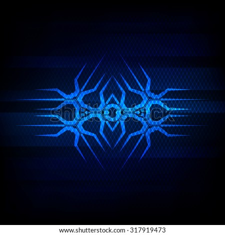 Abstract vector background. Futuristic technology style - stock vector