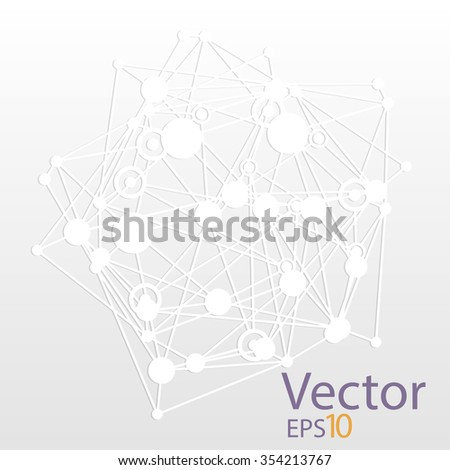 Abstract vector background. Futuristic technology style. Elegant background for business tech presentations. White. - stock vector