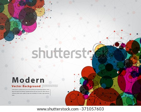 abstract vector background of circle technology concept - stock vector
