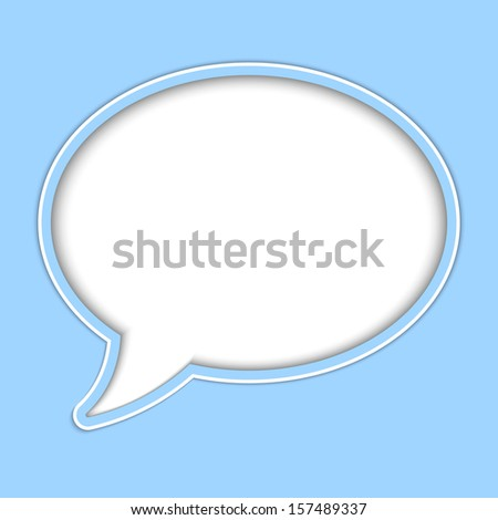 Abstract vector background of paper speech bubble for your own design - stock vector