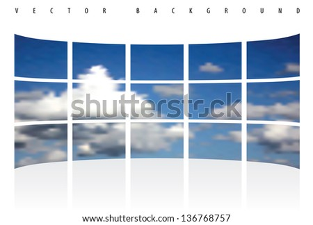 Abstract vector background of sky frames. - stock vector