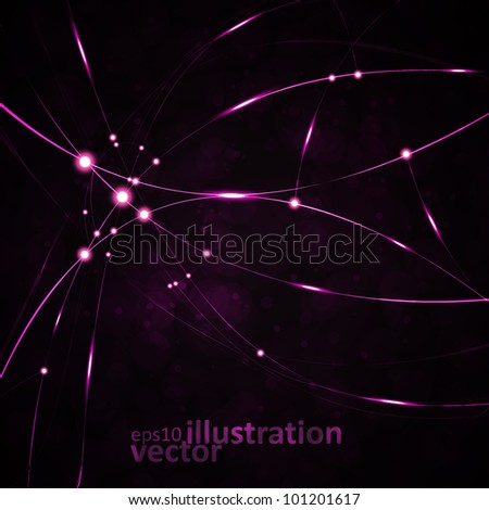 Abstract vector background, shiny space, futuristic wave illustration eps10 - stock vector
