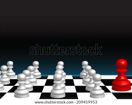 Abstract vector background with a chess board and pieces - stock vector