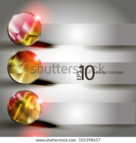 abstract vector background with a geometrical ornament. banner - stock vector