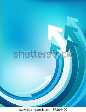 Abstract vector background with arrows - stock vector