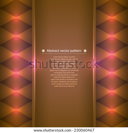 abstract vector background with bright color accents. Vector illustration - stock vector