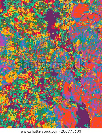 Abstract vector background with bright drops - stock vector