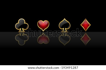 Abstract vector background with casino design elements  - stock vector