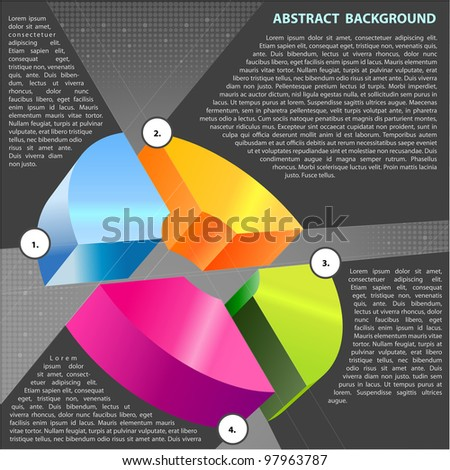 Abstract vector background with cross graph for text - stock vector