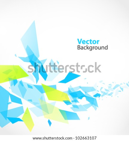 Abstract Vector Background with debris - stock vector