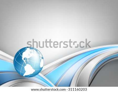abstract vector background with globe and copy space. Eps10 - stock vector