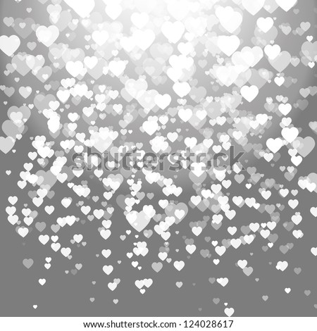 Abstract vector background with hearts - stock vector