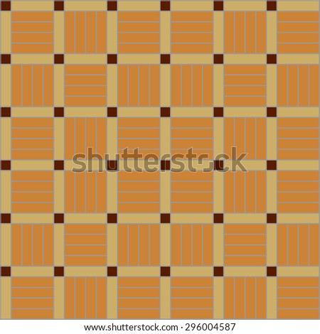 Abstract vector background. Wooden collection. Seamless parquet pattern. Light beige. Backgrounds & textures shop. - stock vector