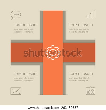 Abstract vector banners infographic design, stock vector - stock vector