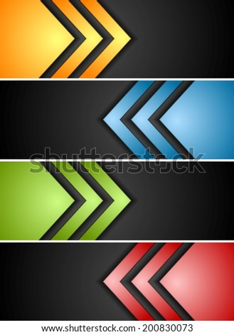 Abstract vector banners with arrows - stock vector
