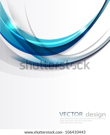 Abstract vector blue background. - stock vector
