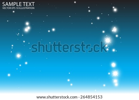 Abstract vector blue background sparkle illustration - Abstract vector blue glitters background design illustration - stock vector