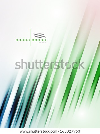 Abstract vector blur lines geometric shape background for business, technology, presentation, template - stock vector