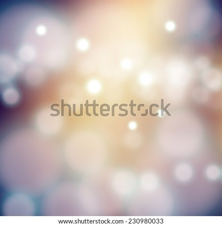 Abstract vector blurred Christmas lights bokeh background evening. EPS 10 - stock vector