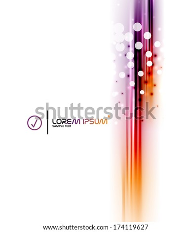 Abstract vector blurred isolated motion lines. Business or technology - stock vector