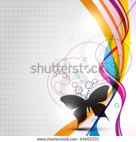 abstract vector butterfly design illustration - stock vector
