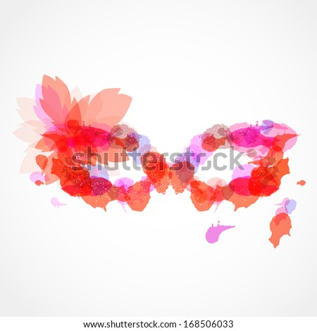 abstract vector carnival mask with bright blots - stock vector