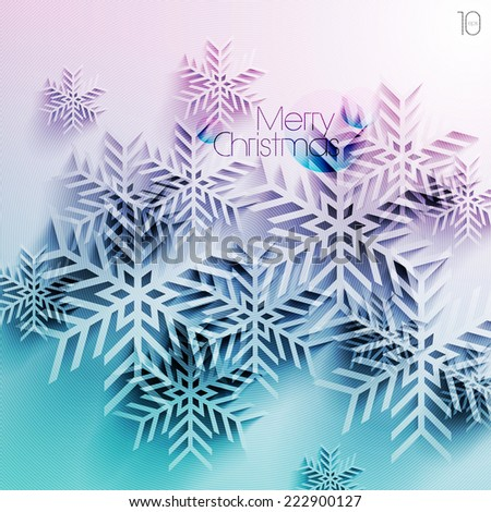 Abstract Vector Christmas Background - stock vector