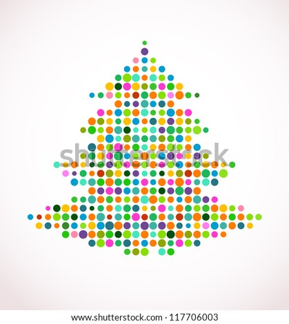abstract vector Christmas tree - stock vector